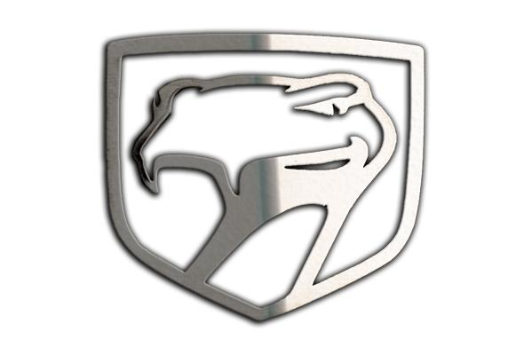 1992-2010 Dodge Viper - Sneaky Pete Emblem 1Pc | Polished Stainless Steel American Car Craft Viper