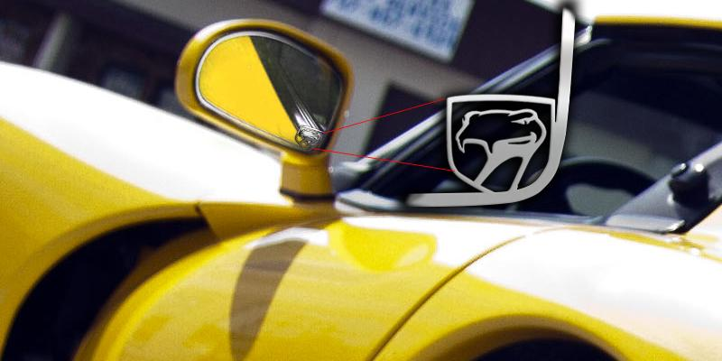 1992-2010 Dodge Viper - Sneaky Pete Side View Mirror Trim 2Pc | Polished Stainless Steel American Car Craft Viper