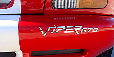 1996-2002 Dodge Viper GTS - Rear Bumper Lettering Kit 'VIPER GTS' | Stainless Steel American Car Craft Viper
