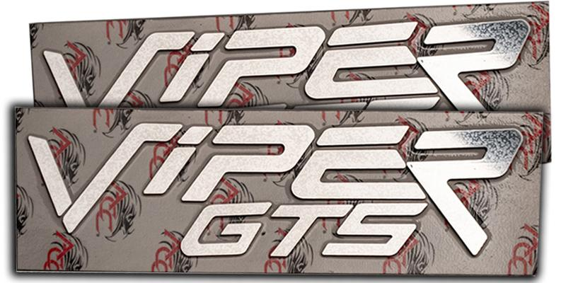 1996-2002 Dodge Viper GTS - Side Fender Lettering Set 'VIPER GTS' | Polished Stainless Steel American Car Craft Viper