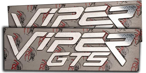 1996-2002 Dodge Viper GTS - Side Fender Lettering Set 'VIPER GTS' | Polished Stainless Steel