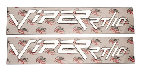 1996-2002 Dodge Viper RT - Side Fenders Letter Set 'VIPER RT/10' | Polished Stainless Steel