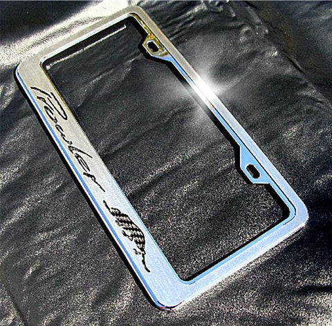 1997-2002 Plymouth Prowler - Deluxe 'Prowler' Rear License Plate Frame w/Kat Inlay | Chrome & Stainless Steel