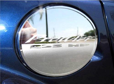 "1997-2002 Plymouth Prowler - Fuel Door Cover w/Etched ""Prowler 253HP"" 