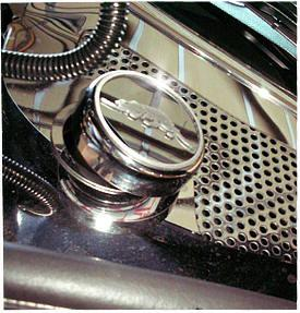 1997-2002 Prowler - Chrome Oil Fill Cap Cover with Kat Logo 1Pc | Chrome & Stainless Steel