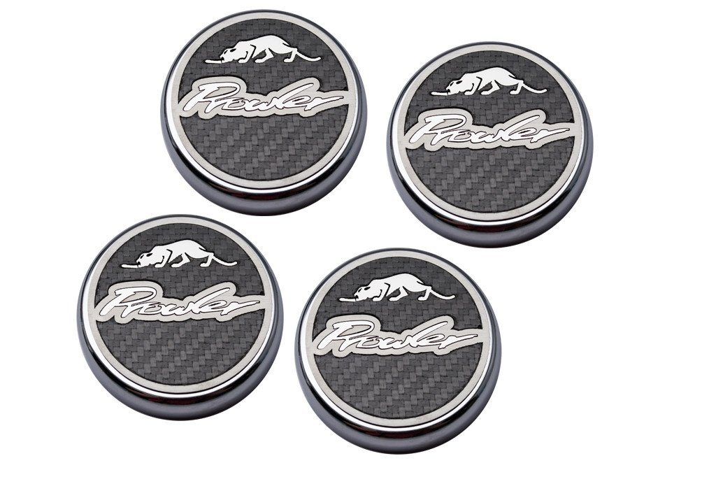 "1997-2002 Prowler - Engine Fluid Cap Covers ""Deluxe"" Real Carbon Fiber 4pc American Car Craft"