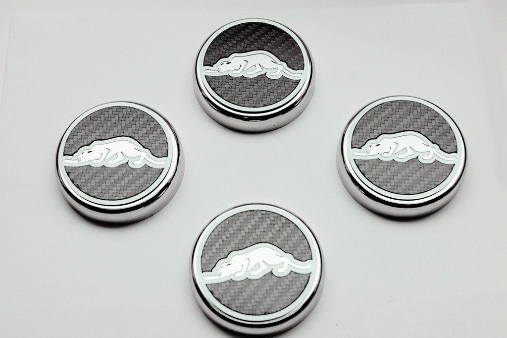 "1997-2002 Prowler - Engine Fluid Cap Covers ""Kat Style"" Real Carbon Fiber 4pc American Car Craft"