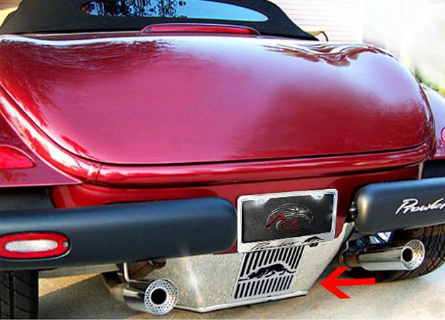 1997-2002 Prowler - Full Roll Pan w/Kat Emblem | Polished Stainless, Standard or Trailer Hitch American Car Craft Prowler
