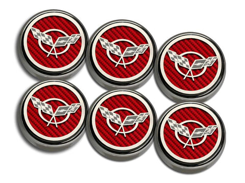 1997-2004 C5 & Z06 Corvette C5 Flag Fluid Cap Cover 6Pc American Car Craft