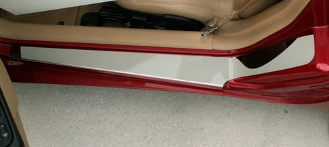 1997-2004 C5 & Z06 - Corvette Doorsills Outer with NO Ribs 2Pc | Polished Stainless Steel