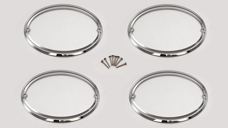 1997-2004 C5 & Z06 - Corvette Taillight Trim Rings 4Pc Polished American Car Craft