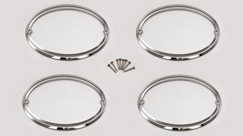 1997-2004 C5 & Z06 Corvette - Taillight Trim Rings 4Pc | Polished Stainless Steel