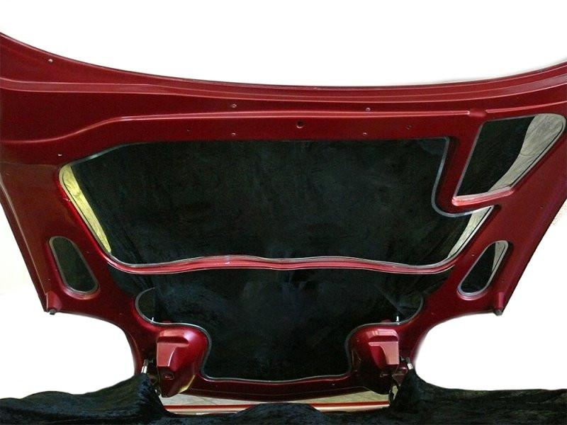 1997-2004 Corvette C5 & Z06 Hood Panel Upper/Lower Inserts Polished with Brushed Trim 2Pc American Car Craft