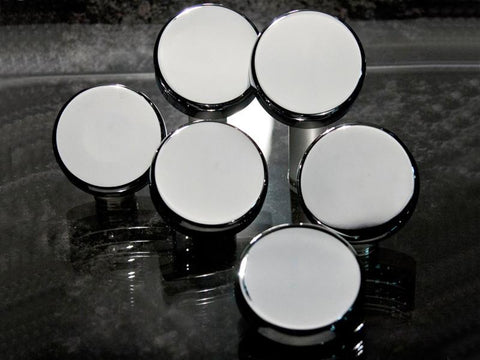 1997-2013 C5+C6 Corvette Fluid Cap Cover Set Chrome 6Pc