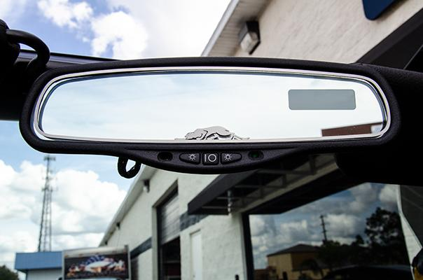 1999-2002 Plymouth Prowler - Rear View Mirror Trim with Kat Emblem 1Pc | Brushed Stainless American Car Craft Prowler