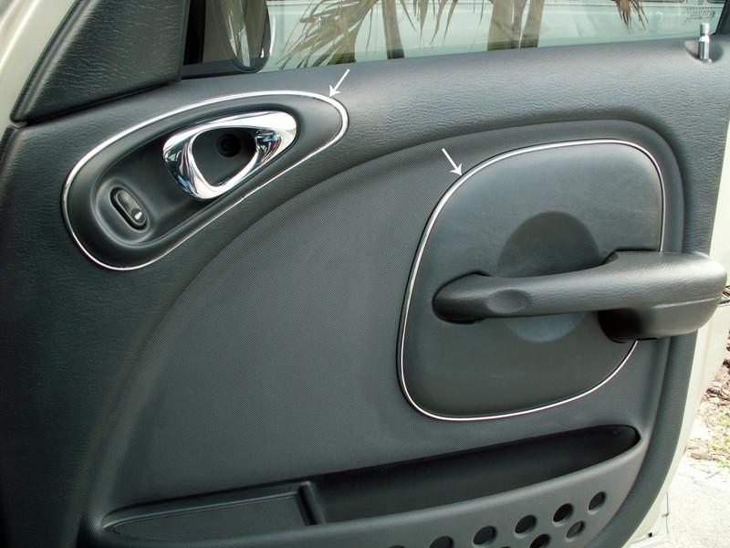 2001-2005 PT Cruiser - Door Trim Kit Chrome Vinyl 8Pc American Car Craft