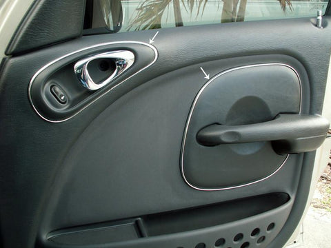 2001-2005 PT Cruiser - Door Trim Kit 8Pc | Chrome Vinyl