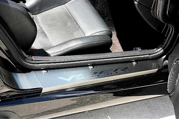 2002-2010 Dodge Viper - Interior Door Sill Trim Plates 'VIPER SRT 10' 2Pc | Stainless Steel American Car Craft Viper