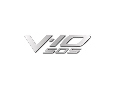"2003-2007 Dodge Viper - Air Box Letters ""V-10 505"" Polished American Car Craft"