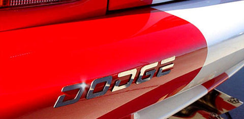 2003-2010 Dodge Viper - Rear Bumper 'DODGE' & 'VIPER' Letters | Polished Stainless Steel