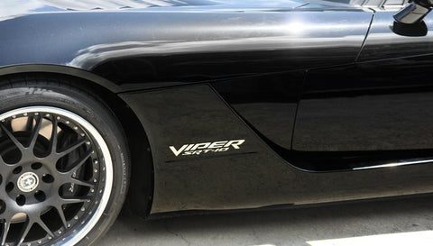 2003-2010 Dodge Viper - Side Fender Letters 'VIPER SRT 10' 2Pc | Polished Stainless Steel