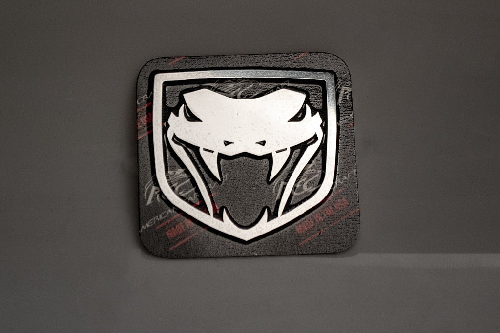 2003-2010 Dodge Viper - VIPER Fangs Emblem 1Pc | Polished Stainless Steel American Car Craft Viper