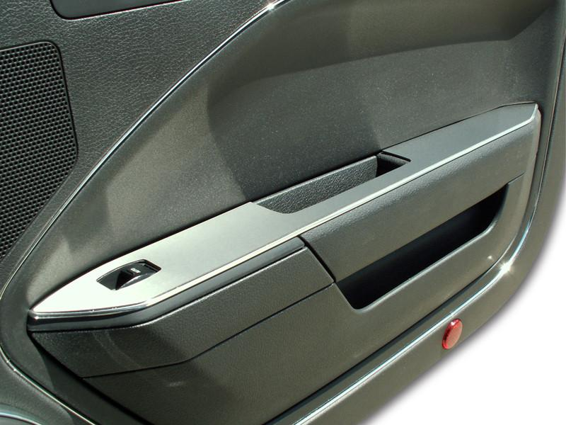 2005-2009 Mustang V6 & GT Coupe - Door Arm Trim Brushed Without Padded Door 2Pc American Car Craft