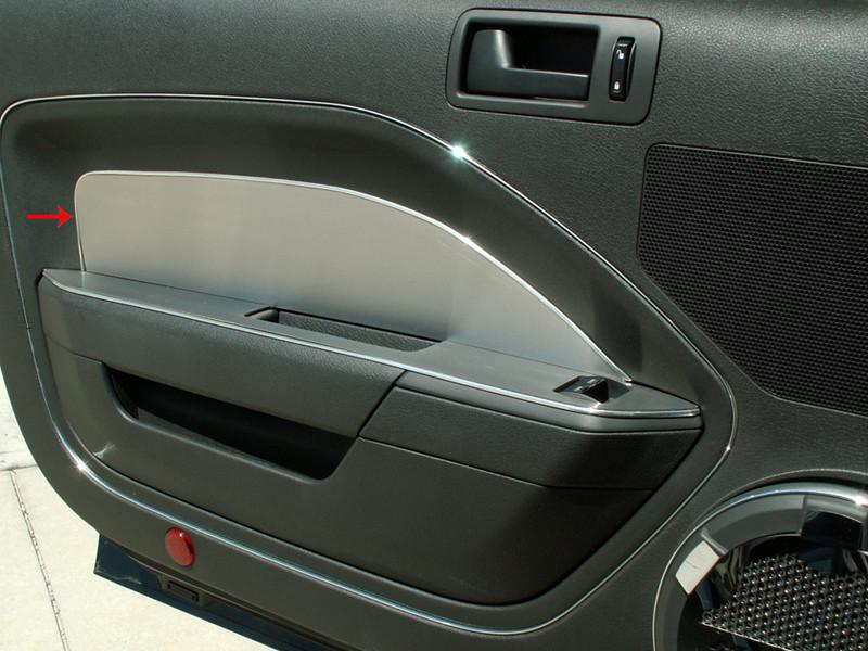 2005-2009 Mustang V6 & GT - Door Panel Inserts Brushed Without Padded Door 2pc American Car Craft