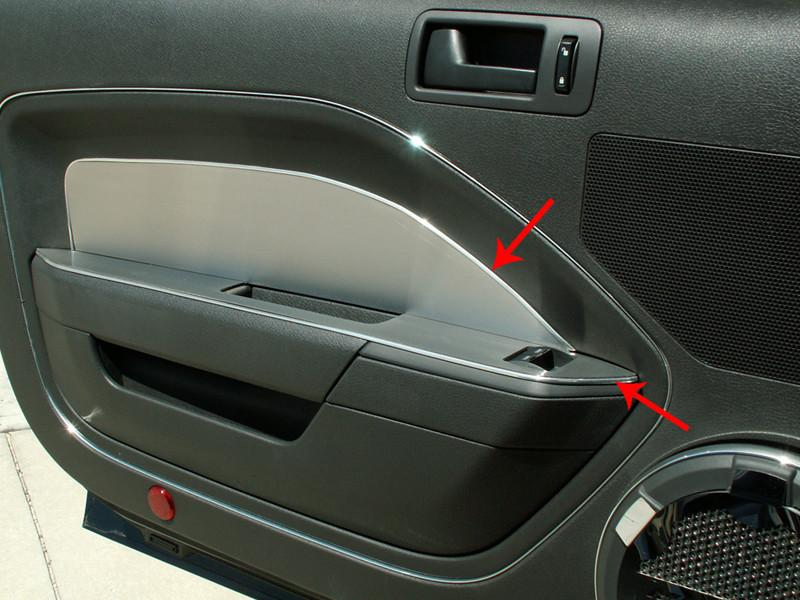 2005-2009 Mustang V6 & GT - Door Panel Kit Brushed Without Padded Door 4Pc American Car Craft