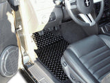 2005-2009 Mustang V6 & GT - Floor Mats Diamond Plate Powder Coated 2Pc American Car Craft