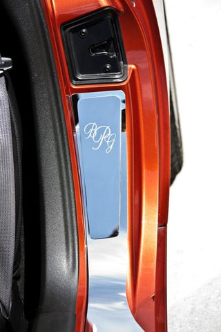 2005-2013 C6 Corvette - Vanity Plates w/Etched Monogram (2-3 Initials) 2Pc | Stainless Steel