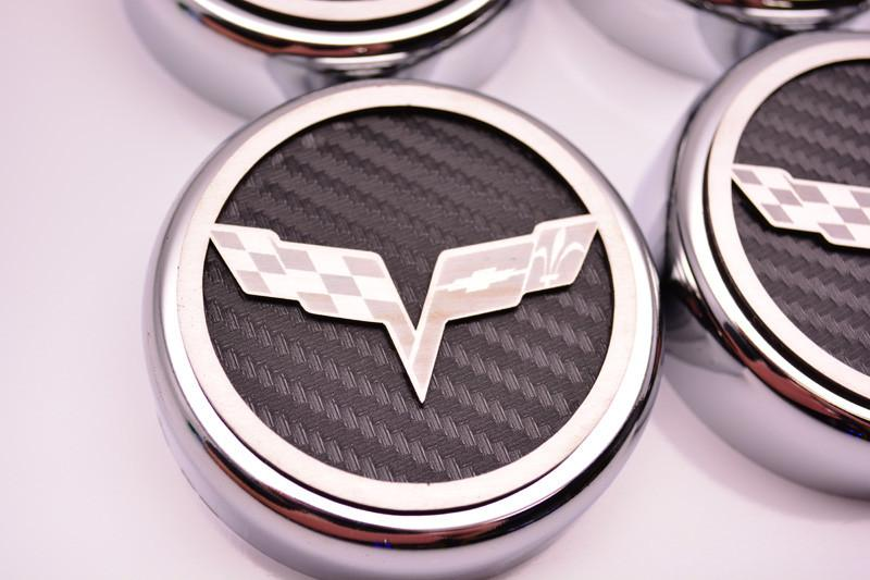 2005-2013 C6 Corvette Executive Series Fluid Cap Cover 6Pc Set American Car Craft