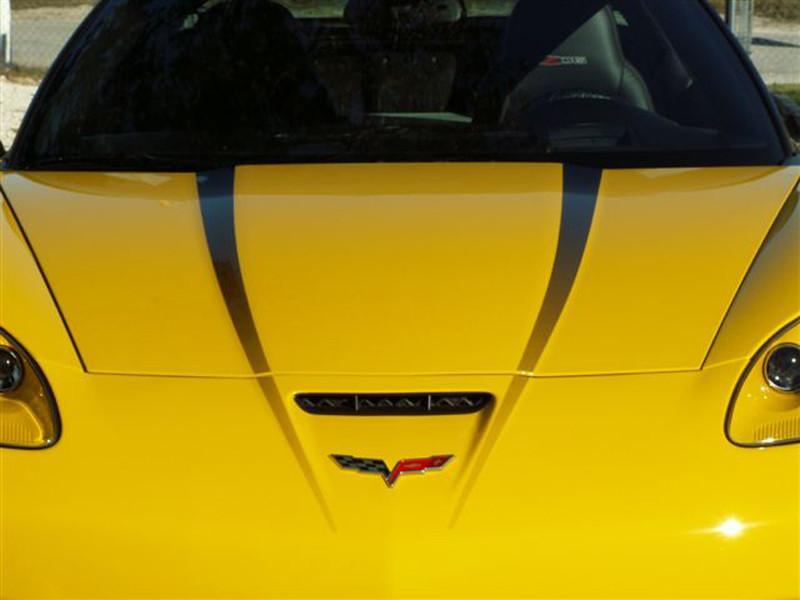 2005-2013 Corvette C6 - Hood Graphic Fade 2Pc American Car Craft