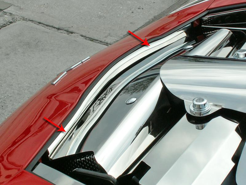 2005-2013 Corvette C6 Nose Cap Front Polished Component American Car Craft
