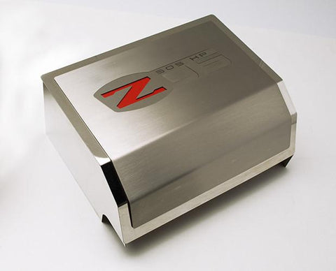 2006-2013 Z06 Corvette - Fuse Box Cover with Z06 Logo | Brushed/Polished Combo