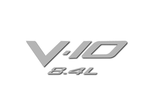 "2008-2010 Dodge Viper - Air Box Letters ""V-10 8.4L"" Polished American Car Craft"