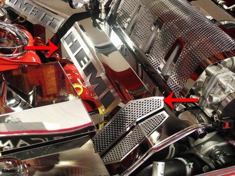 "2008-2011 SRT 8 - ""HEMI"" Fuel Rail Covers 2Pc 