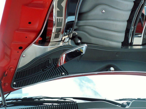2008-2014 Challenger Polished Vented Hood Panel American Car Craft