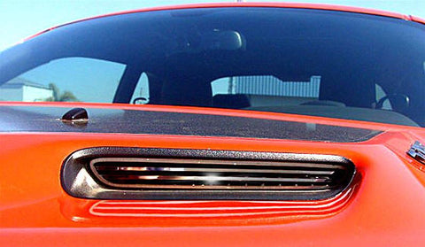 2008-2014 Dodge Challenger Hood Scoop Billet Style 2Pc Polished