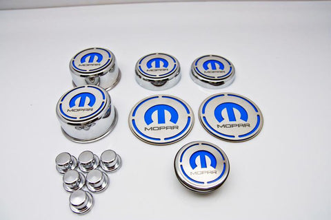 "2008-2018 Challenger - ""MOPAR"" 13pc Deluxe Cap Cover Set With Shock Tower Covers American Car Craft"