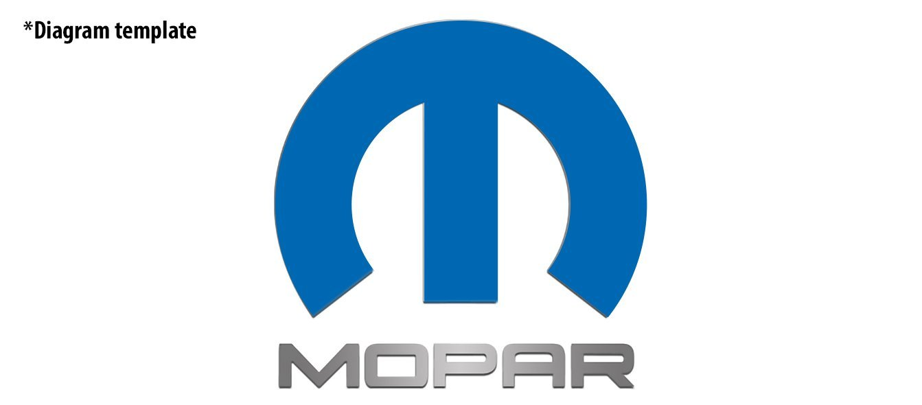 "2008-2018 Challenger Omega ""M"" For Trunk or Hood Panels with Blue ""MOPAR"" letters American Car Craft"