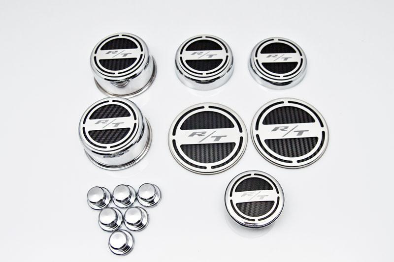 "2008-2018 Challenger - ""RT"" 13pc Deluxe Cap Cover Set With Shock Tower Covers American Car Craft"