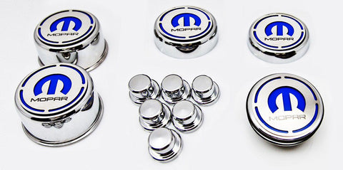 "2008-2018 Dodge V8 Charger - ""MOPAR"" Fluid & Shock Tower Cap Covers 11Pc 