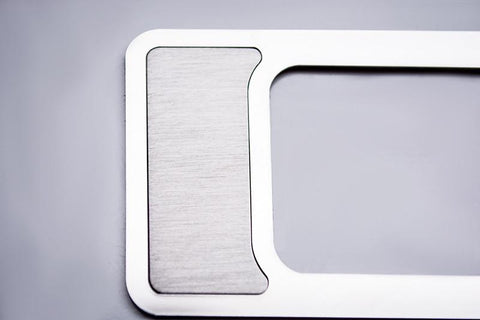 2009-2014 Ford Raptor/F-150 - Interior Dim Switch Trim Plate | Brushed Stainless Steel