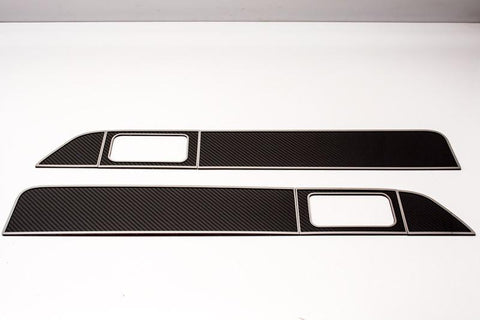 2009-2014 F-150/Raptor - Front Door Inserts Carbon/Fiberglass 6Pc Kit | Stainless Steel/Carbon Fiber