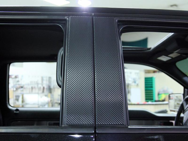 2009-2014 Ford F150/Raptor - Pillar Posts with Carbon Fiber Wrap 4Pc American Car Craft