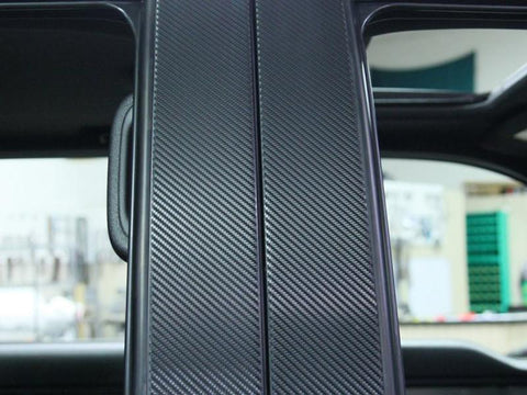 2009-2014 Ford F150/Raptor - Pillar Posts w/Carbon Fiber Wrap 4Pc | Stainless Steel/Vinyl