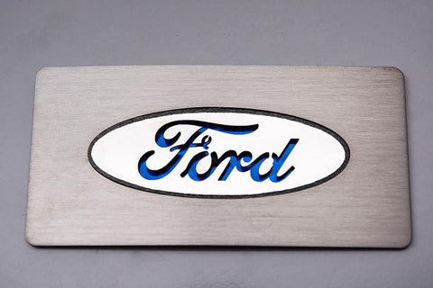 "2009-2014 Ford Raptor - ""Ford Logo"" Glove Box Trim Stainless Steel 