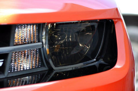2010-2013 Camaro - Headlight Restyling Package with Tinted Film 6pc American Car Craft