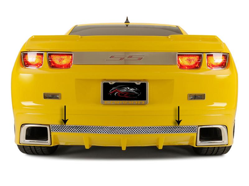 2010-2013 Camaro - Laser Mesh Rear Valance Trim, Fits the GM RS Ground Effects American Car Craft